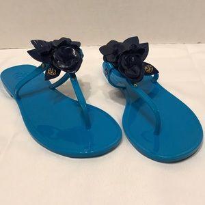 Tory Burch Blossom Jelly Flip Flops size 8